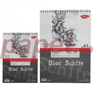Bloc desen schite A4, 160g/mp Daco BD416