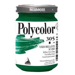 Culoare acrilica Maimeri polycolor 140 ml brilliant green deep 1220305