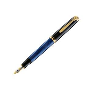 Stilou Pelikan Souveran M600 M penita din aur corp negru-albastru 988170
