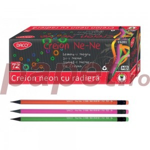 Creion negru cu radiera Ne-Ne Daco 7358