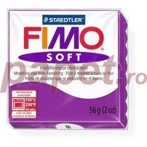 Lut polimeric Fimo Soft pentru modelaj 8020-Purple