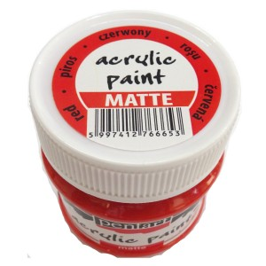 Culoare acrilica mata 50ML Red P1018