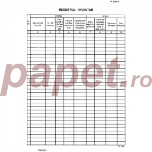 Registru inventar cod: 14-1-2 867