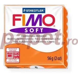 Lut polimeric Fimo Soft pentru modelaj 8020-Tangerine