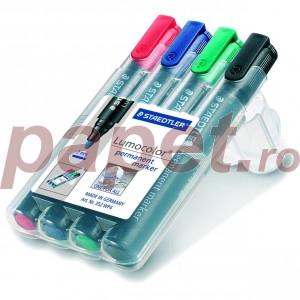 Marker permanent Staedtler 4 culori / set ST352WP4