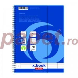 Caiet dictando A4 cu spira si separatoare Herlitz 100 file 0296483