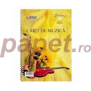 Caiet muzica Arhi Design A4 32 file spirala 7201