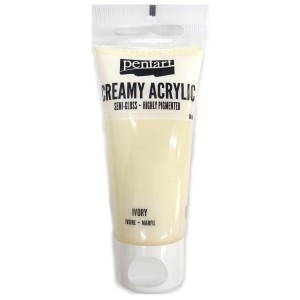 Acrylic color creamy semi-gloss 60ML Ivory P27943