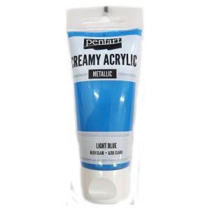 Acrylic color creamy metallic 60ML Light Blue P28017