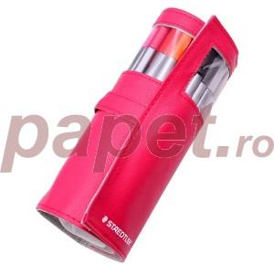Set fineliner triplus Staedtler 20 culori / set  cu penar roz cadou ST-334-PC20-20