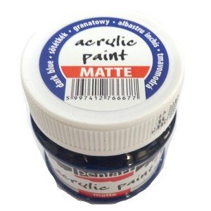 Culoare acrilica mata 50ML Dark Blue P1307
