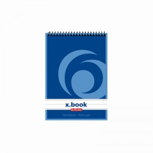 Bloc notes spira Herlitz Xbook A6 50 file dictando 110619