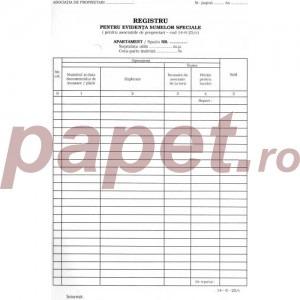 Registru pentru evidenta sumelor speciale 1160