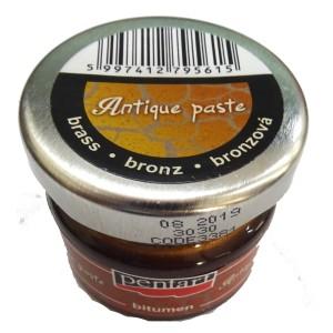 Pasta de invechire Pentart patina brass Bronz 20ML P3381