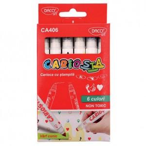 Carioca Daco 6 culori cu stampila CA406