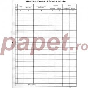 Registru jurnal incasari si plati (sigilat.-copertat) 558