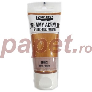 Acrylic color creamy metallic 60ML Bronze P28007