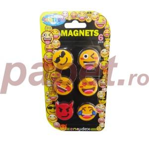 Magneti 28MM 6buc/set Emojidex color 87005