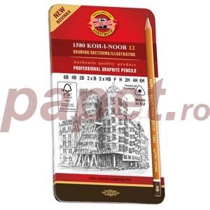 Creioane grafit arta Koh-I-Noor 12 bucati / set K1502-2
