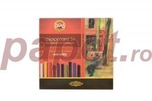 Set creta uleioasa gioconda Koh-I-Noor 24 culori K8114-24