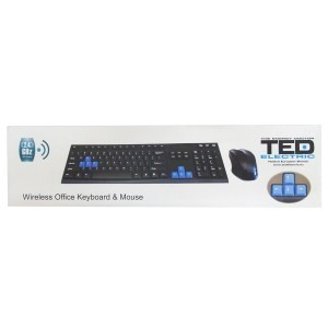 Tastatura + mouse Ted Electric wireless tedblue4 439105