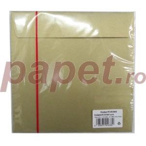 Plic Daco silicon auriu 16 x 16 cm / bucata PC1616AU
