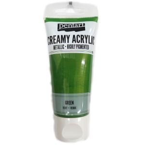 Acrylic color creamy metallic 60ML Green P28024