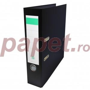 Biblioraft plastifiat Papet 8cm negru E564013