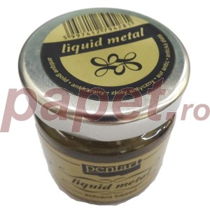 Foita lichida - metal lichid Antique Gold 30ML P21083