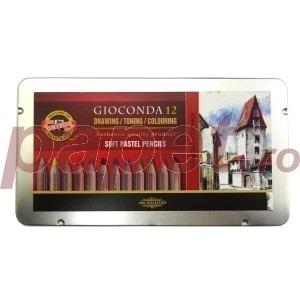 Set 12 creioane din pastel gioconda Koh-I-Noor K8827-12