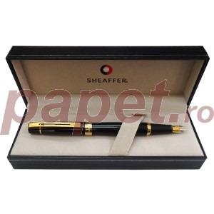 Stilou Sheaffer 300 chrome negru / ss gt / lac black gt E0931453