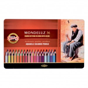 Creioane colorate Koh-I-Noor aquarel 36 culori / set K3725-36