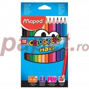 Creioane colorate Maped 12 culori / set MAXI M834010