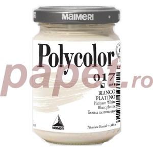 Culoare acrilica Maimeri polycolor 140 ml platinum white 1220017