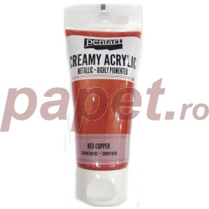 Acrylic color creamy metallic 60ML Red Copper P28023