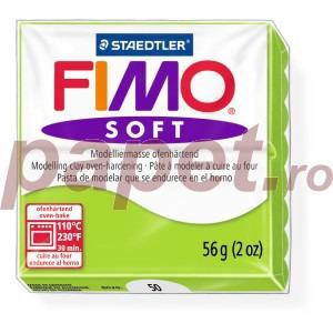 Lut polimeric Fimo Soft pentru modelaj 8020-Apple green