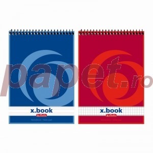 Bloc notes spira Herlitz Xbook A5 50 file matematica / dictando 110536