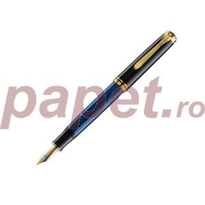 Stilou Pelikan Souveran M800 M, penita din aur 14k si corp negru cu albastru 986729