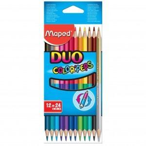 Creioane colorate Maped 12 culori / set DUO M829600