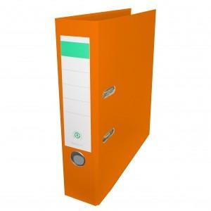 Biblioraft plastifiat Papet 8cm portocaliu E564019