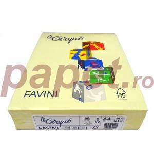 Hartie A4 colorata 80G/MP galben deschis favini FAV10080