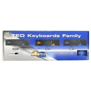 Tastatura usb standard blue Ted Electric TED-K-1