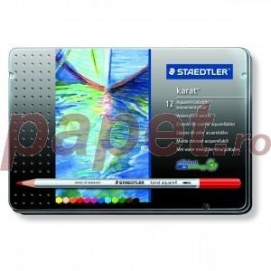 Creioane colorate Staedtler 12 culori / set karat aquarel STH-125-M12