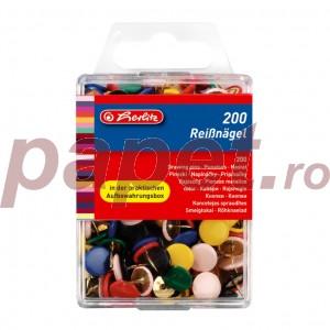 Pioneze color 200 bucati /cutie Herlitz 8770109