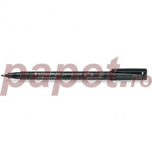Marker permanent Staedtler Lumocolor negru F 0.6mm ST-318-9