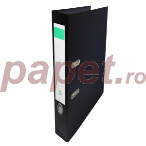Biblioraft plastifiat Papet 5cm negru E564023