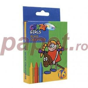 Creioane colorate cerate 16 culori / set Centrum 80596