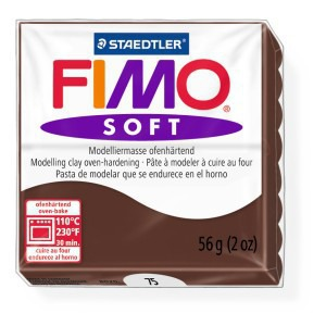 Lut polimeric Fimo Soft pentru modelaj 8020-Chocolate