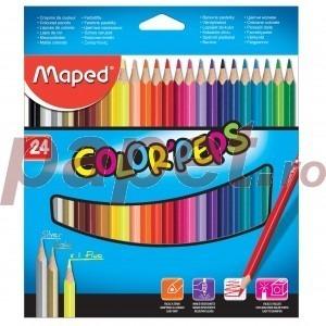 Creioane colorate Maped 24 culori / set M183224