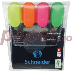 Set text marker Schneider job 4culori/set 2992